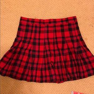 H&M plaid high waist skirt